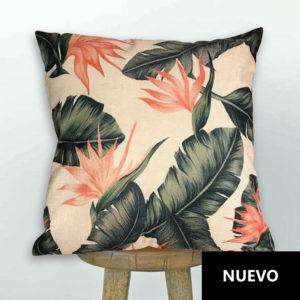 Cojín Flores Lino Crudo 45×45