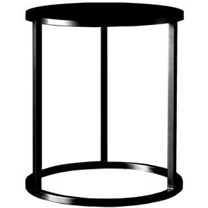Mesa lateral de apoyo Nes negra 40×50