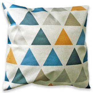 Cojín Triángulos Lino 45×45